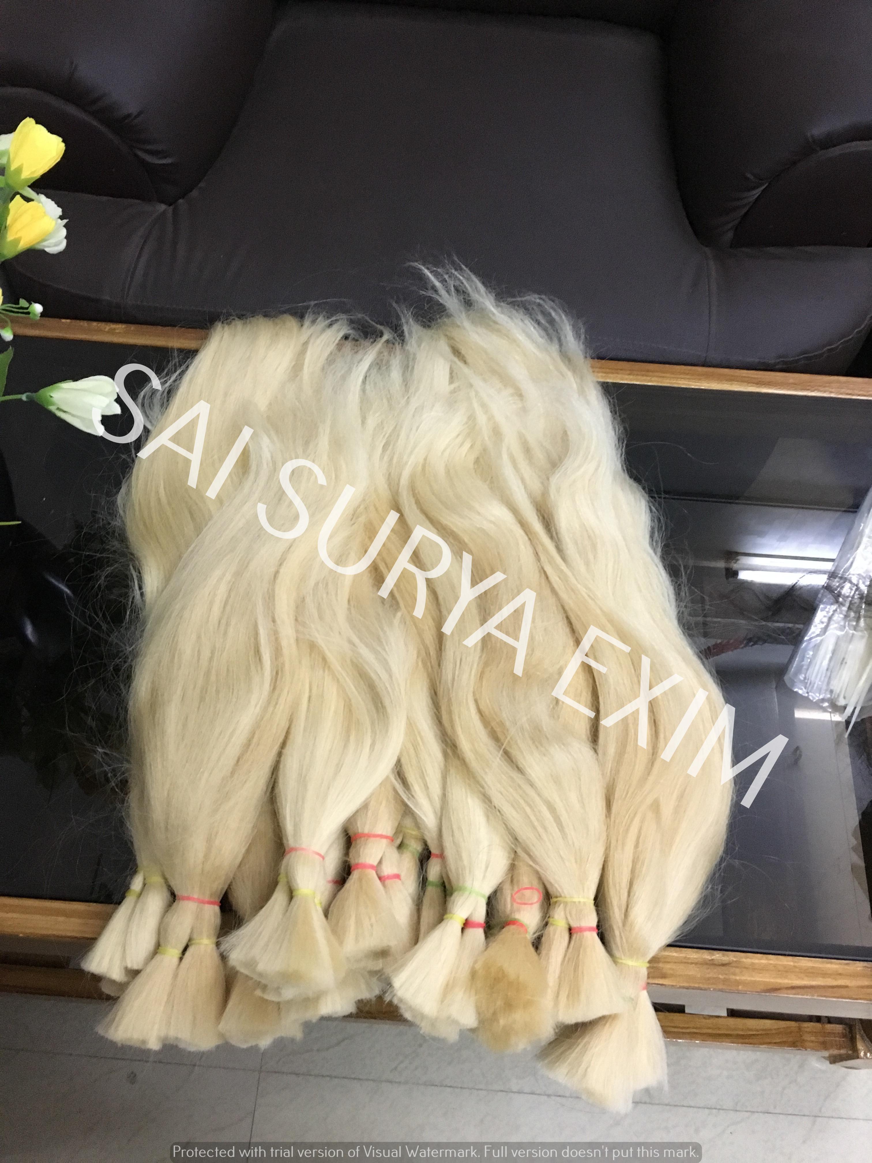 Bulk Blonde Indian Virgin Human Hair Extensions