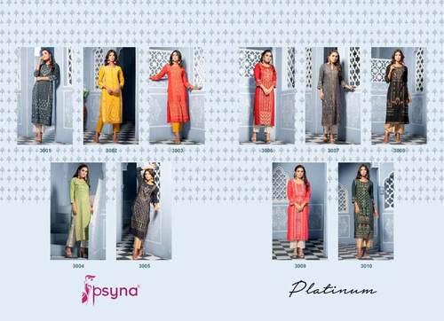 Platinum Vol 3 Rayon Long Kurtis