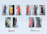 Platinum Vol 3 Rayon Long Kurtis