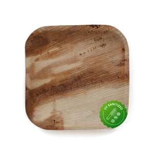 Disposable Areca Palm Leaf Plates - 6 Inch Square   100% Natural, Export Quality, Eco Friendly, Available In Bulk