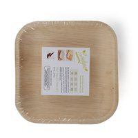 Disposable Areca Palm Leaf Plates - 6 Inch Square | 100% Natural, Export Quality, Eco Friendly, Available In Bulk