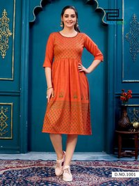 Trend Vol 10 Heavy Rayon Two Tone Kurtis