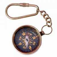 Brass Compass Key-Chain
