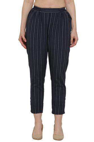 Striped Black khadi Trouser