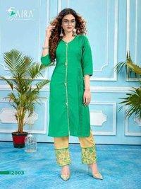 Ladies Designer Cotton Kurtis With Pant