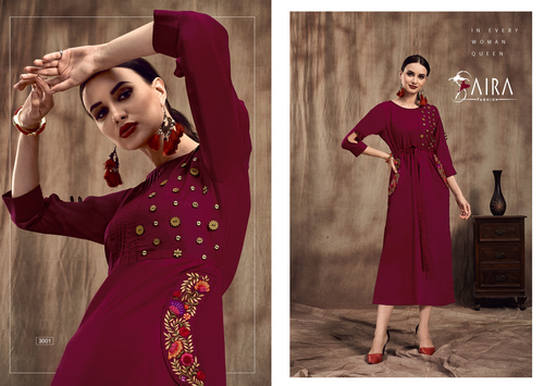 Ladies Fashionable Handwork Kurtis
