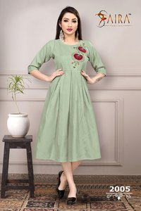 Ladies Designer Cotton Kurtis