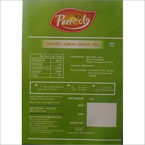 Ginger Lemon Grass Tea Premix