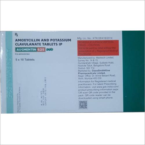 Amoxycillin And Potassium Clavulanate Tablets
