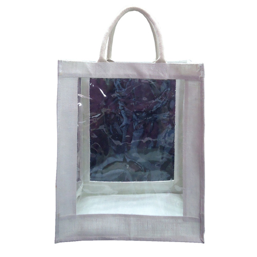 PP Laminated Jute Bag With All 4 Side Window & Padded Rope Handle