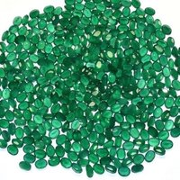 3x5mm Green Onyx Faceted Oval Loose Gemstones