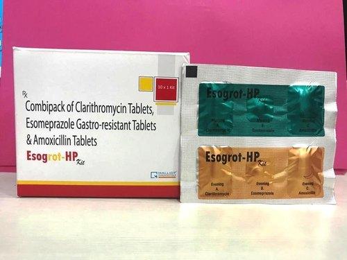 Combi Kit of Esomeprazole, Clarithromycin and Tinidazole