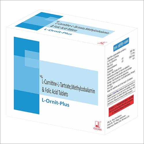 L-Carnitine-L-Tartrate Methylcobalamin And Folic Acid Tablets
