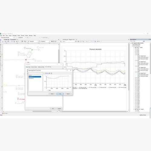 Gas Operating/Time Series (GL) Siemens PSS SINCAL Gas Modules