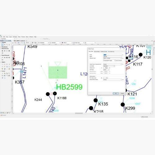 Water Tanks (WH) Siemens PSS SINCAL Water Modules