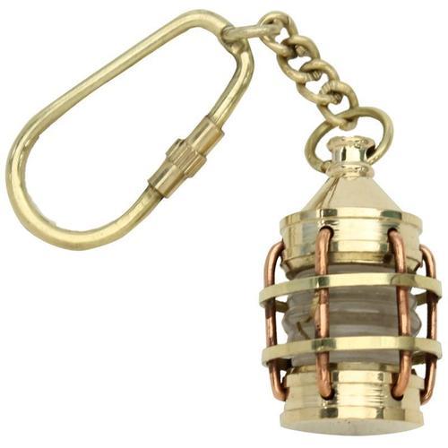 Brass Key Chain Ship Lantern