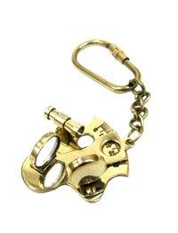 Brass Key Chain Nautical Sextant