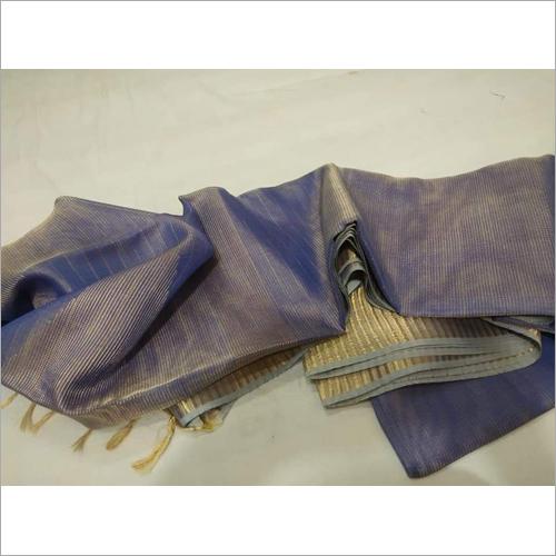 Ladies Grey Tissue Linen Saree