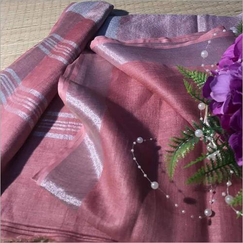Ladies Casual  Cotton Slub Saree