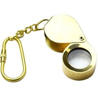 Solid Brass Key Chain Nautical Folding Magnifier Glass
