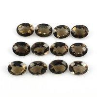 7x9mm Smoky Quartz Faceted Oval Loose Gemstones
