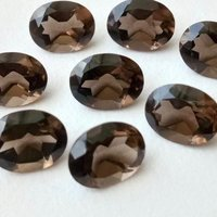 10x12mm Smoky Quartz Faceted Oval Loose Gemstones