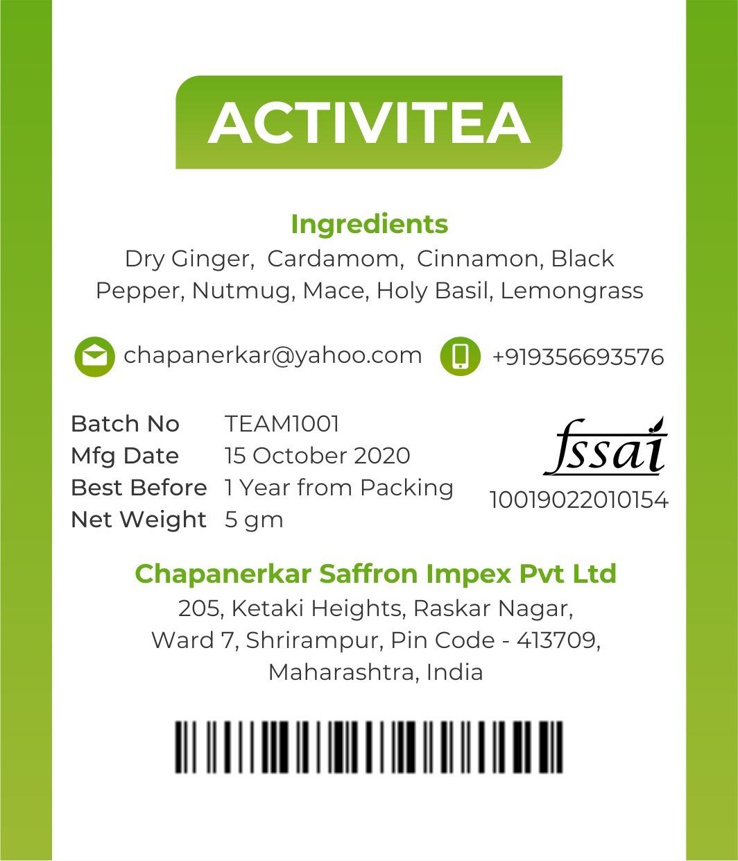 Activitea Tea Masala
