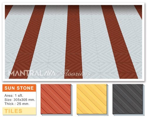 25mm Sunstone Parking Tiles