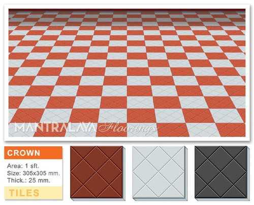 25mm Crown Shape Parking Tiles