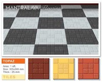 25mm Topaz Parking Tiles