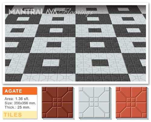 25mm Agate Parking Tiles
