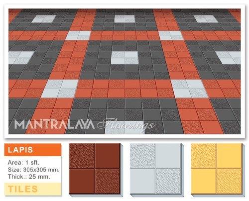 25mm Lapis Parking Tiles