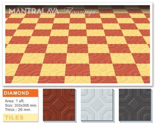 25mm Diamond Shape Parking Tiles