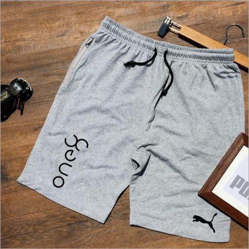 Men Cotton Grey Shorts