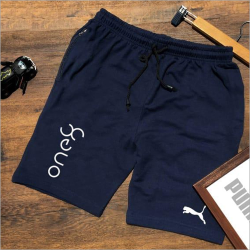 Men Cotton Blue Shorts