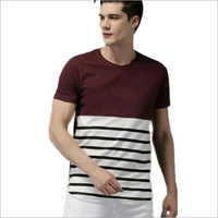 Mens Cotton Round Neck Printed T shirt