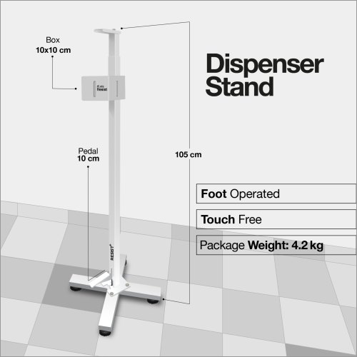 Touch Free Foot Operated Sanitizer Dispenser Stand