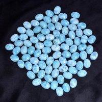 6x8mm Larimar Oval Cabochon Loose Gemstones