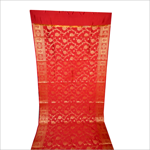 Ladies Orange Jakat Tapeta Fancy Dupatta