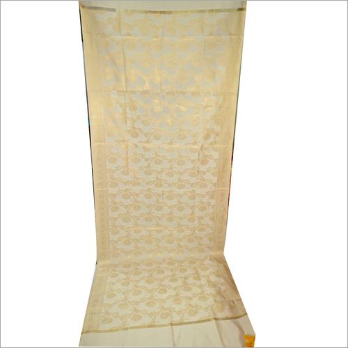 Ladies Banarasi Cream Color Dupatta