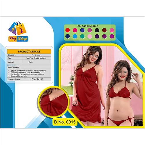 Ladies Fancy Underwear And Night Dress 2 Piece Set