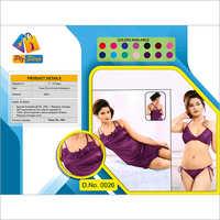 Ladies Designer Underwear And Night Dress 2 Piece Set