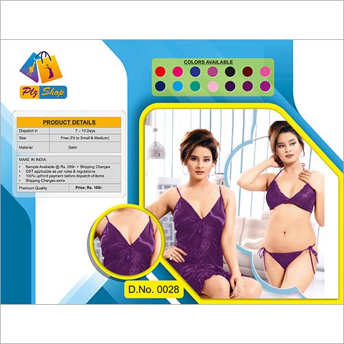 Ladies Modern Underwear And Night Dress 2 Piece Set