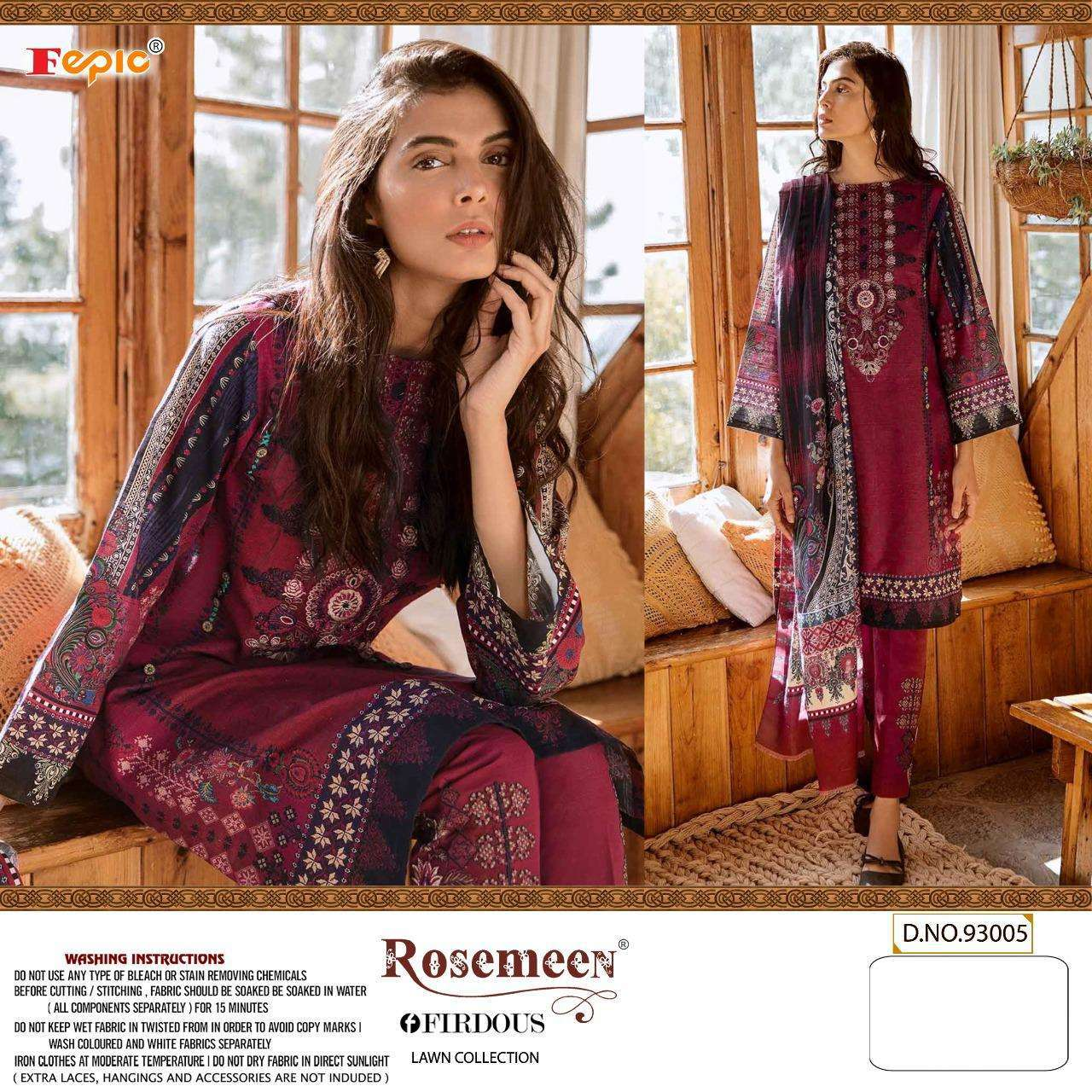 Fepic Firdous Lawn Collection Cambric Cotton Pakitani Dress Material Catalog
