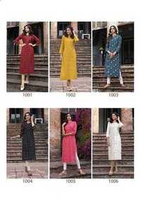 COLOURBAR RAYON WITH GUARANTEED BANARASI FOIL PRINT KURTIS