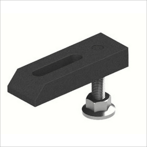 Tapped End Clamp With Adjustable Support