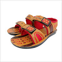 Bajirao Brown & Red Kids Sandal