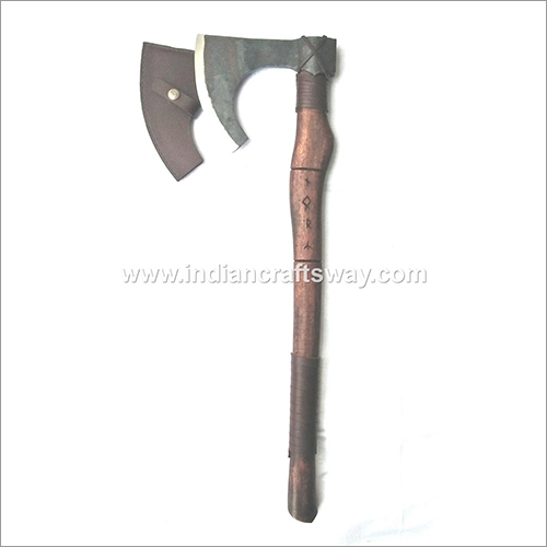 Hand Forged High Carbon Viking Axe With Leather Sheath