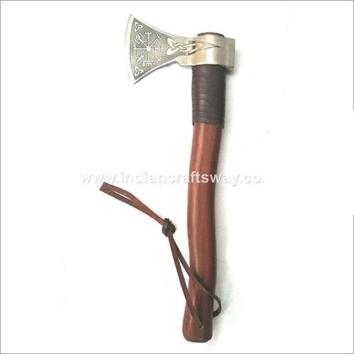 Hand Forged High Carbon Bearded Axe Head Length: 20  Centimeter (Cm)