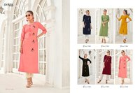 Ancy Vol-1 Rayon Slub Lycra With Handwork Kurtis